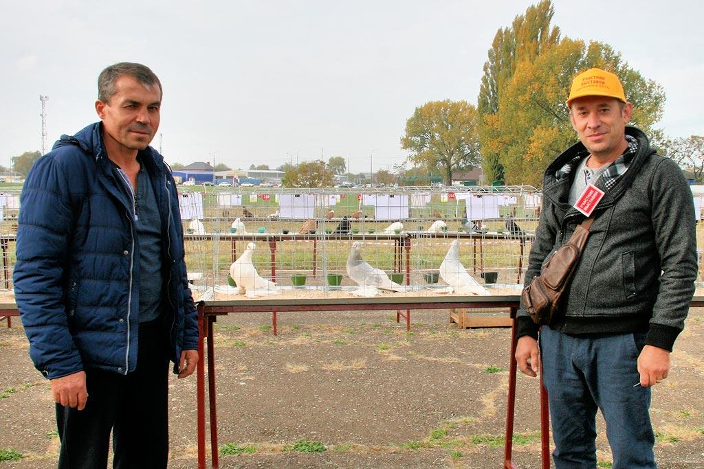 участники выставки Герман Титов (Анапа) и Андрей Попов (ст. Переясловская)